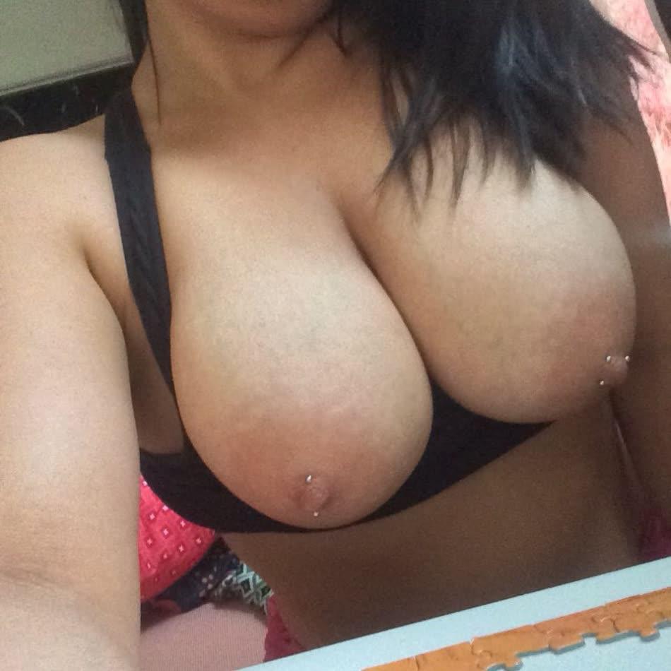 Brunette big tits pierced opinion you