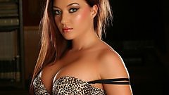 Elena on Alluring Vixens in some animal print ba and panties.