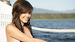 Autumn Riley naked on a boat!