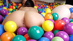 Dare Dorm filled with balls brings on an orgy.